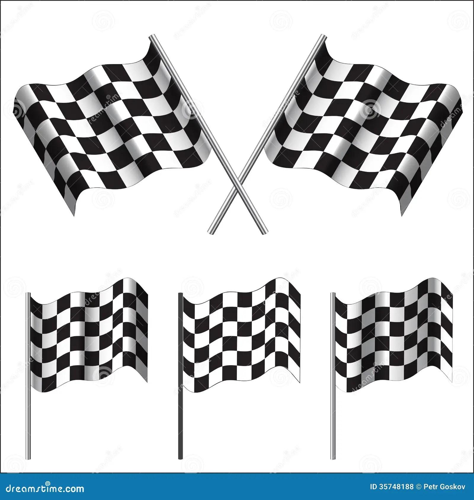 Checkered Flags Racing Vector Stock Vector