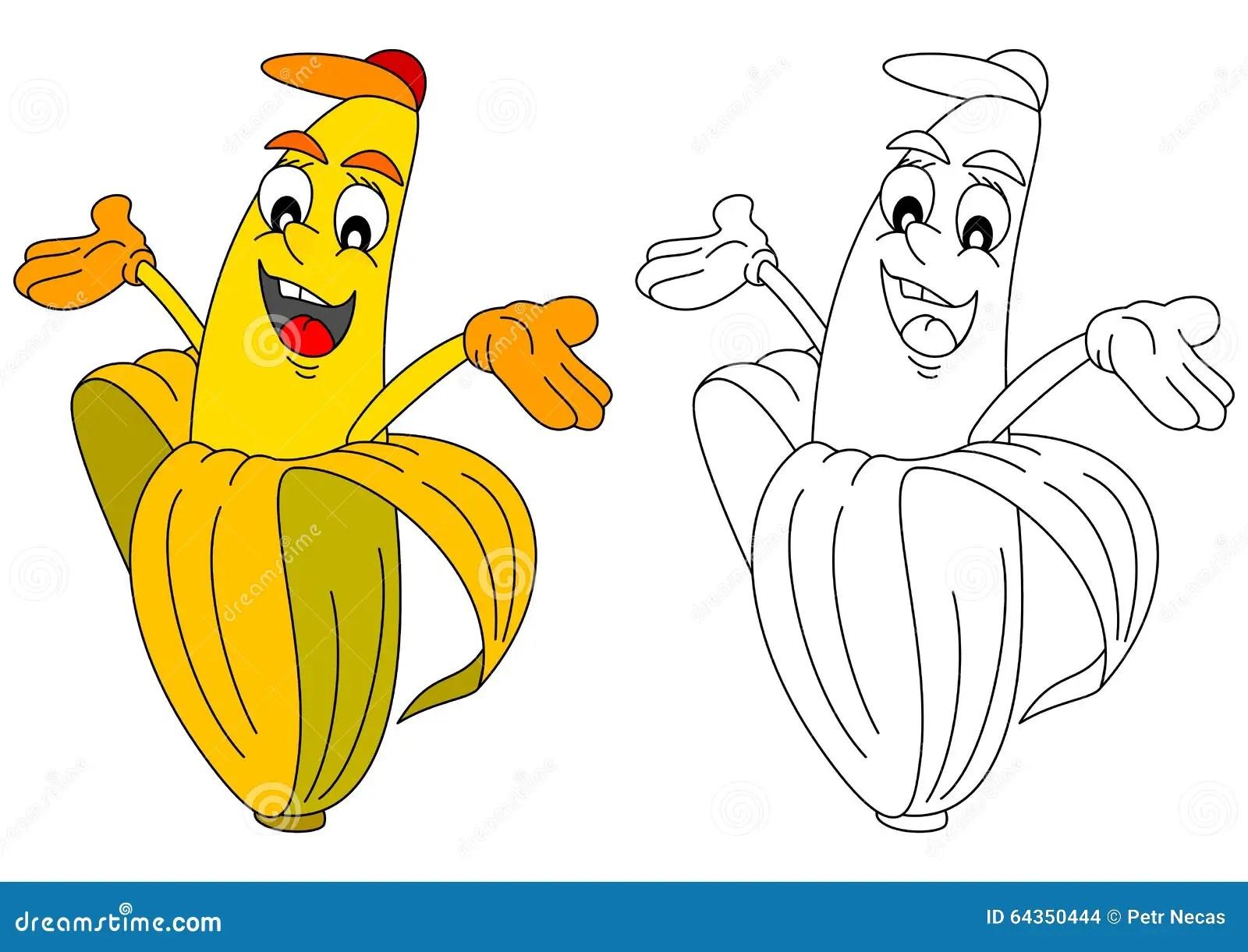 Yellow Banana And Children Drawing Stock Image