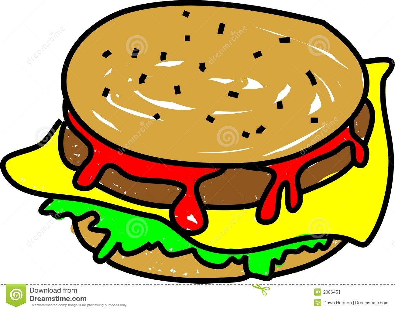 Cheeseburger Stock Vector Illustration Of Illustration