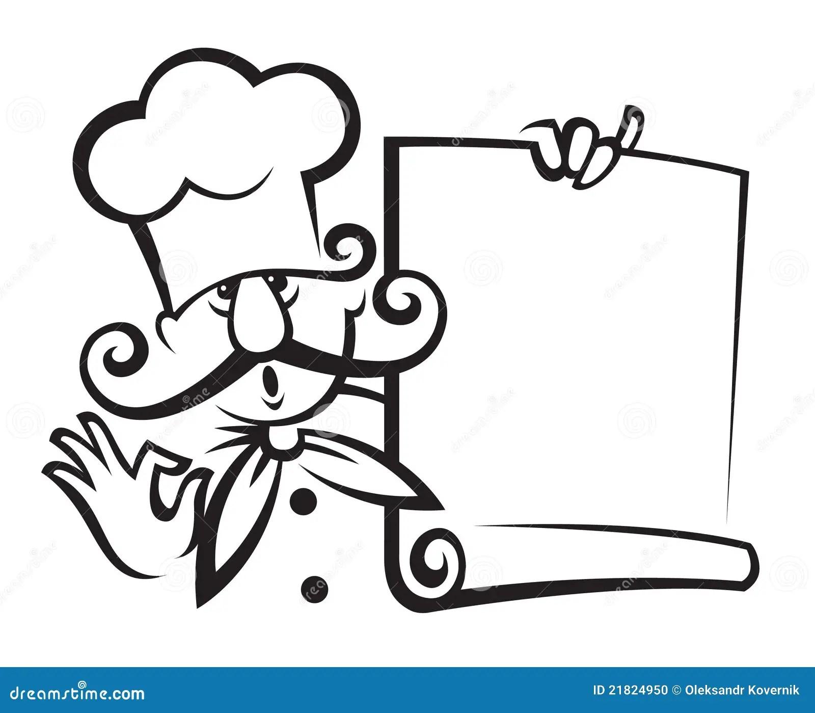Chef Kok Met Menu Vector Illustratie Illustratie