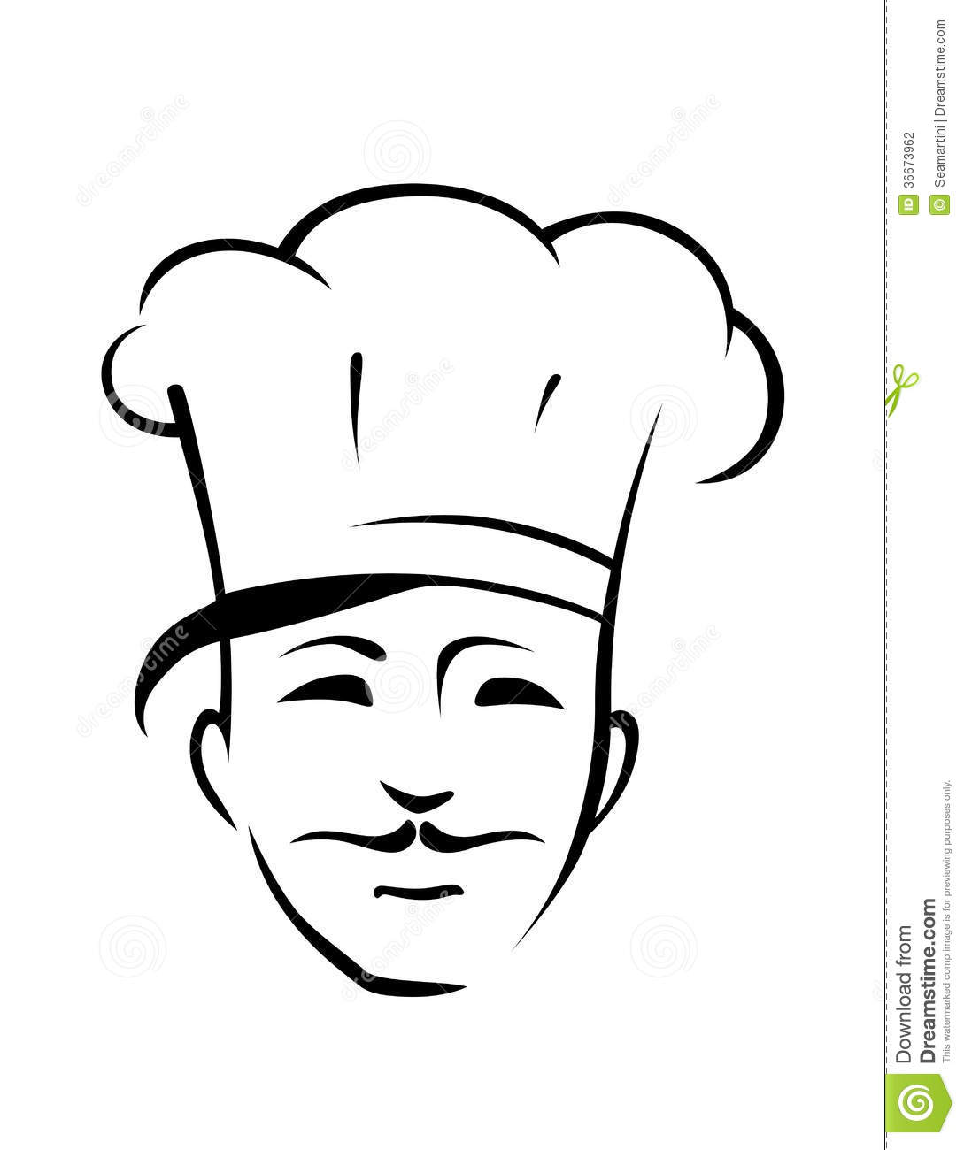 Chef With A Moustache And Toque Stock Photography