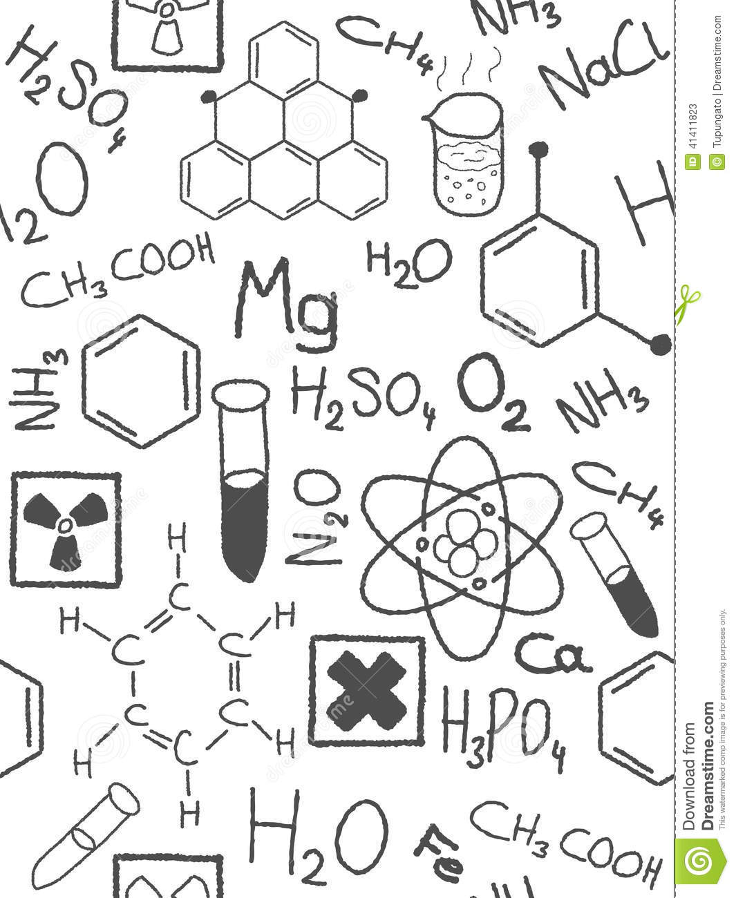 Chemistry Doodle Stock Vector
