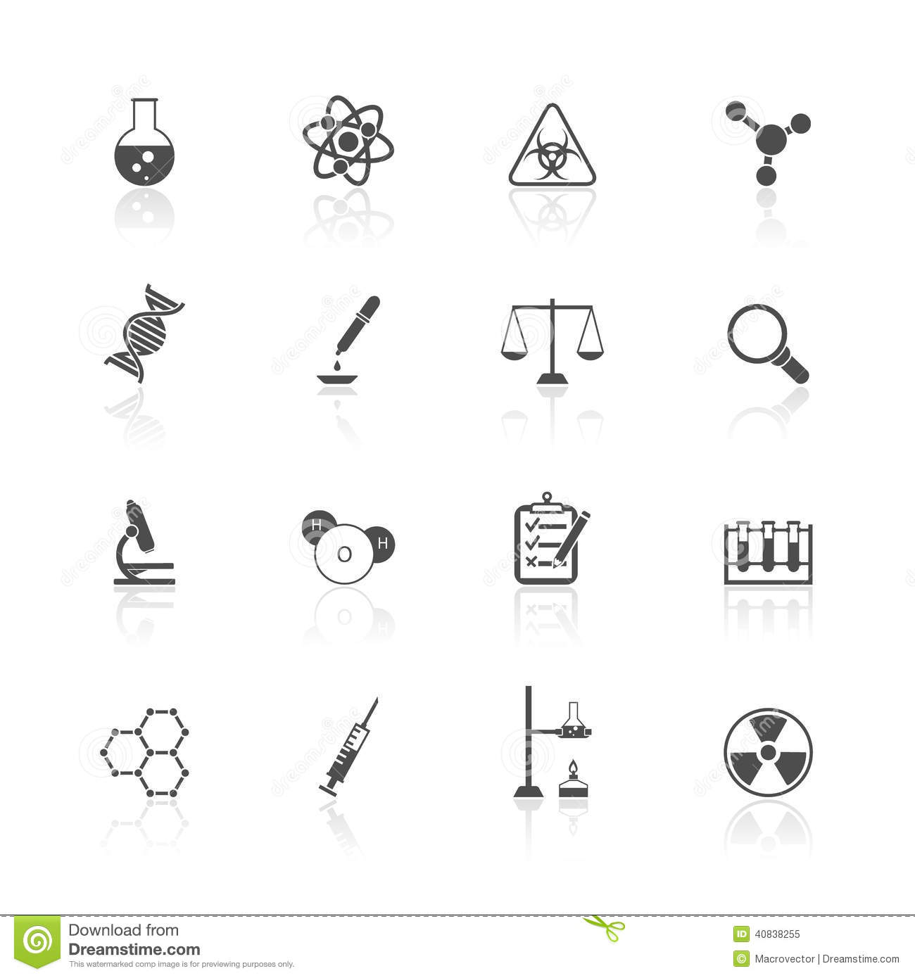 Chemistry Icons Set Stock Vector Illustration Of