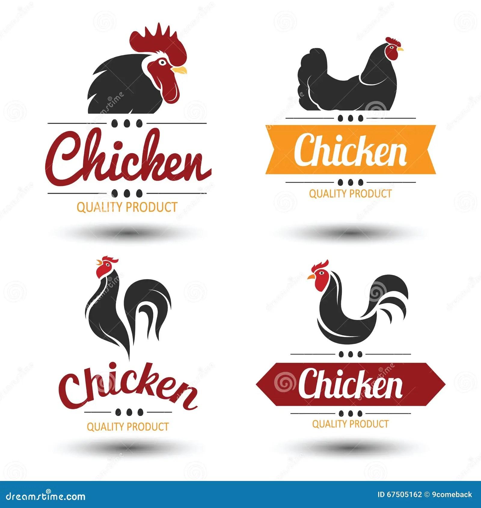 Chicken Label Stock Vector Illustration Of Food Stamp
