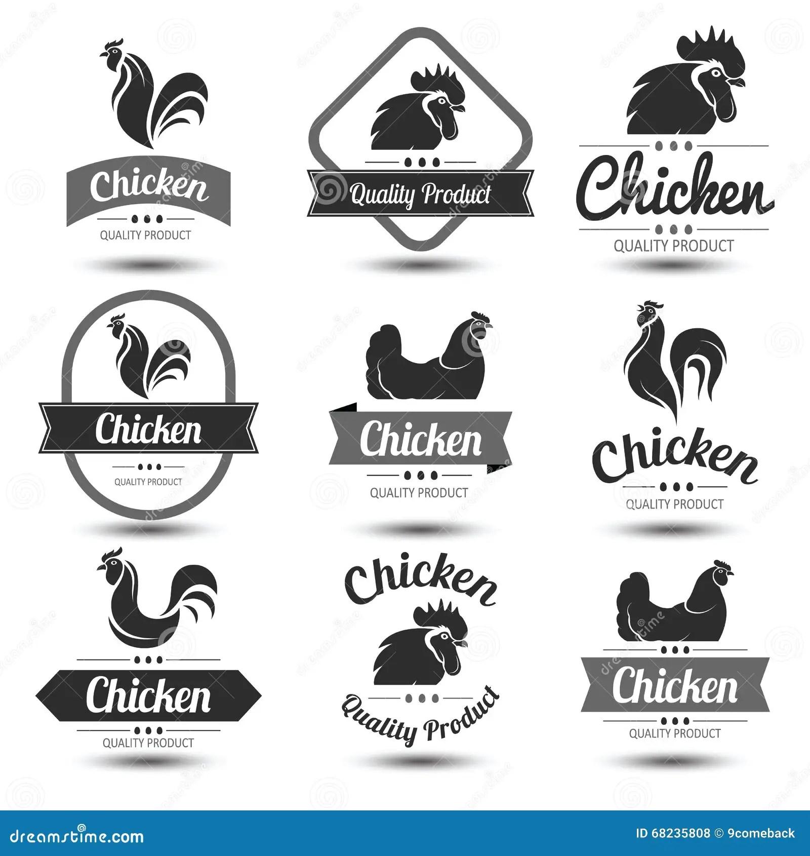 Chicken Label Stock Vector