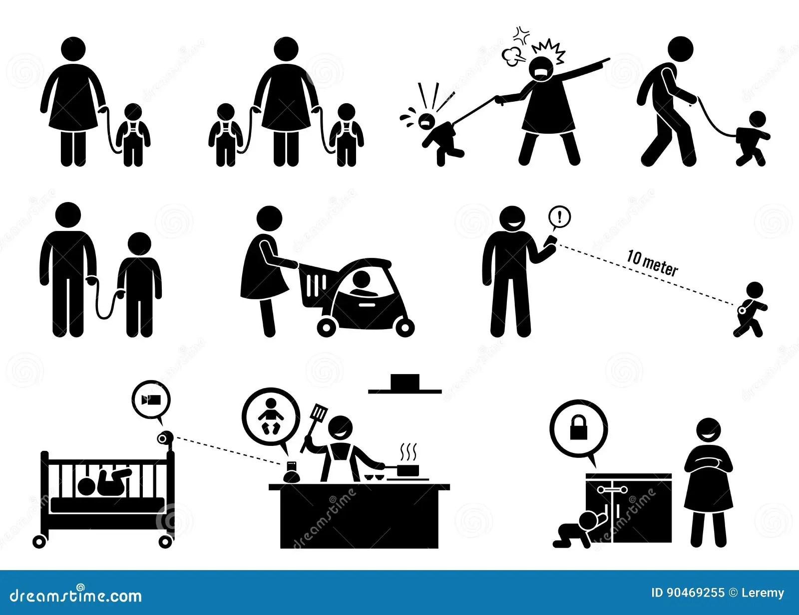 Child Safety Monitor Equipment Stock Illustrations 22