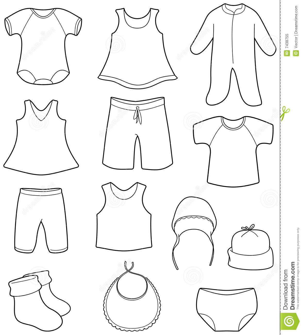Children S And Babies Clothes Stock Vector