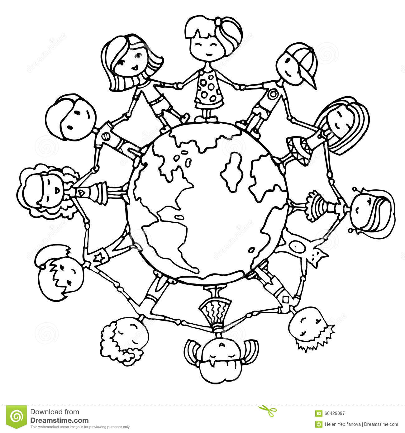 Children Around The World Stock Vector