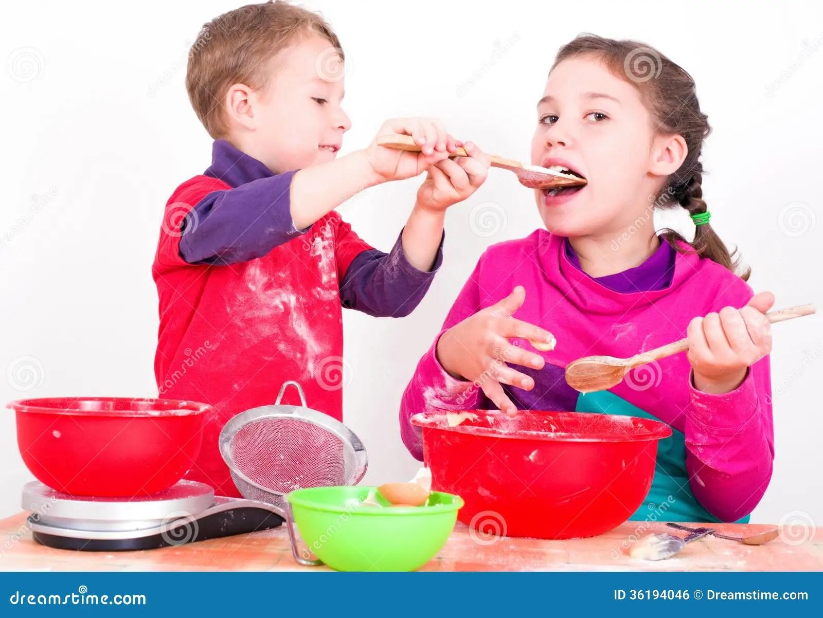 Children When Baking Stock Photo Image Of Cake Child