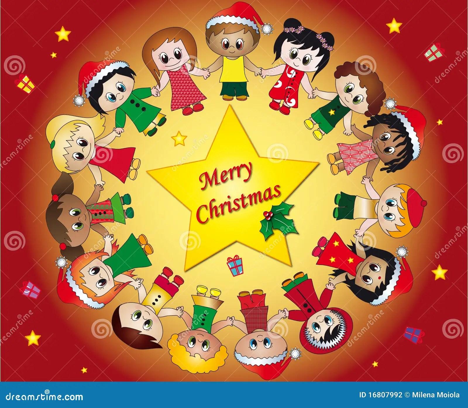 Children Christmas Stock Illustration Illustration Of