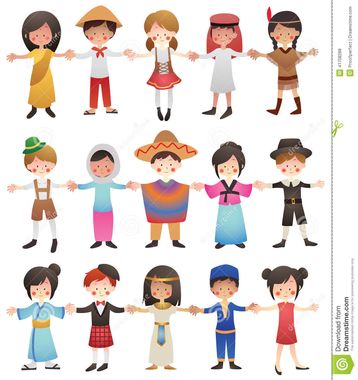 Multicultural Children Of The World Stock Vector
