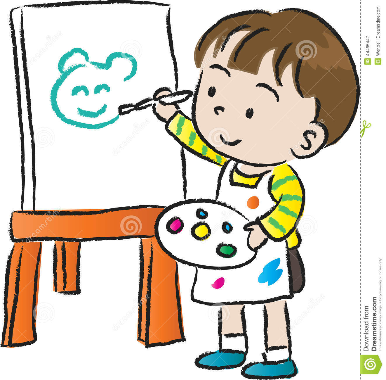 Children Drawing Stock Illustration Image Of Cute