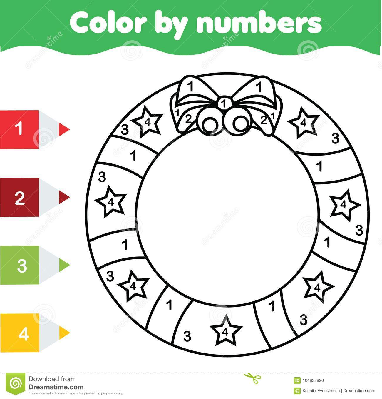 Children Educational Game Coloring Page With Christmas
