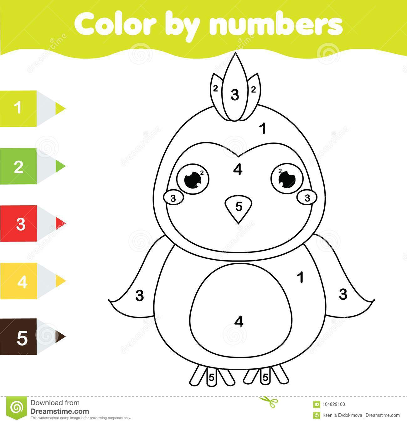Children Educational Game Coloring Page With Parrot