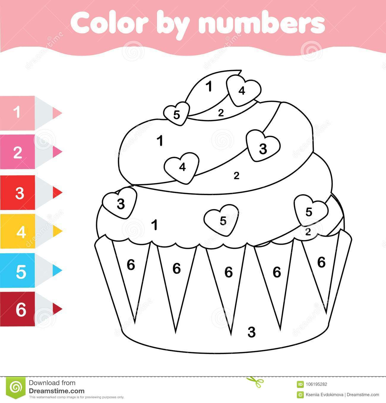 Children Educational Game Coloring Page With Valentine S