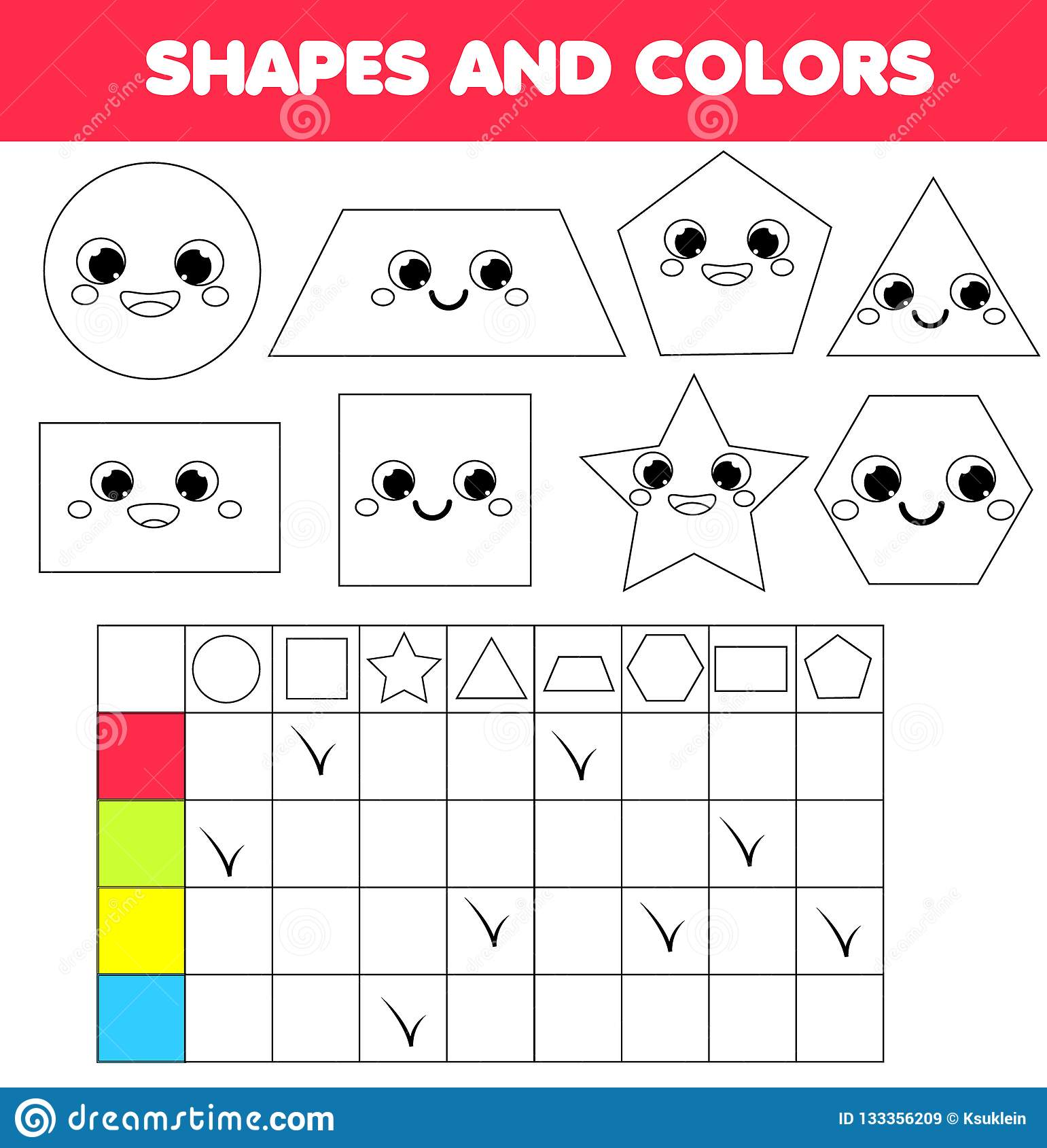 Children Educational Game Learning Geometric Shapes And