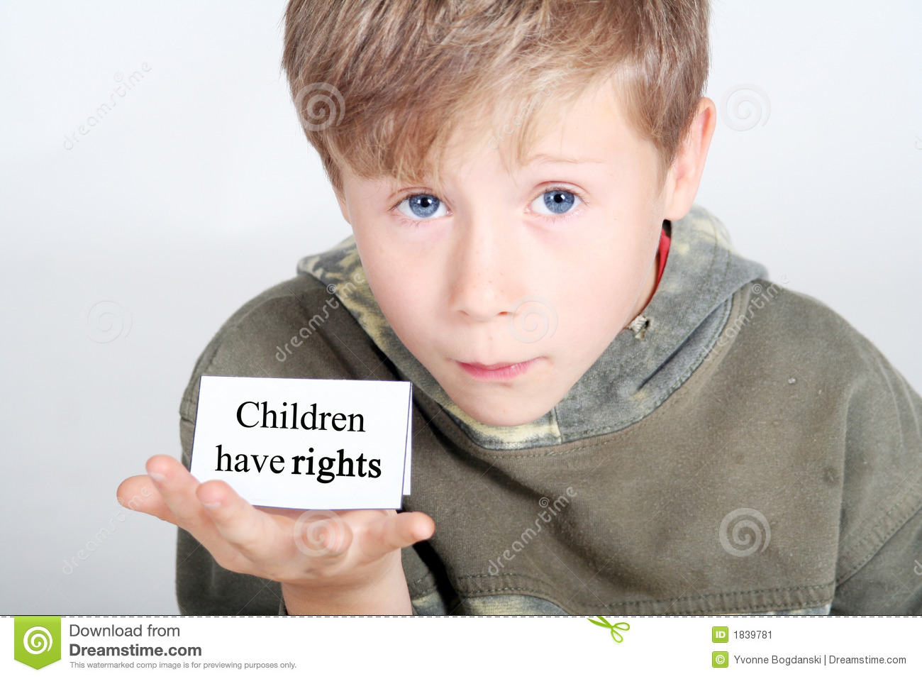Children Have Rights Stock Image Image Of Sweet Rights