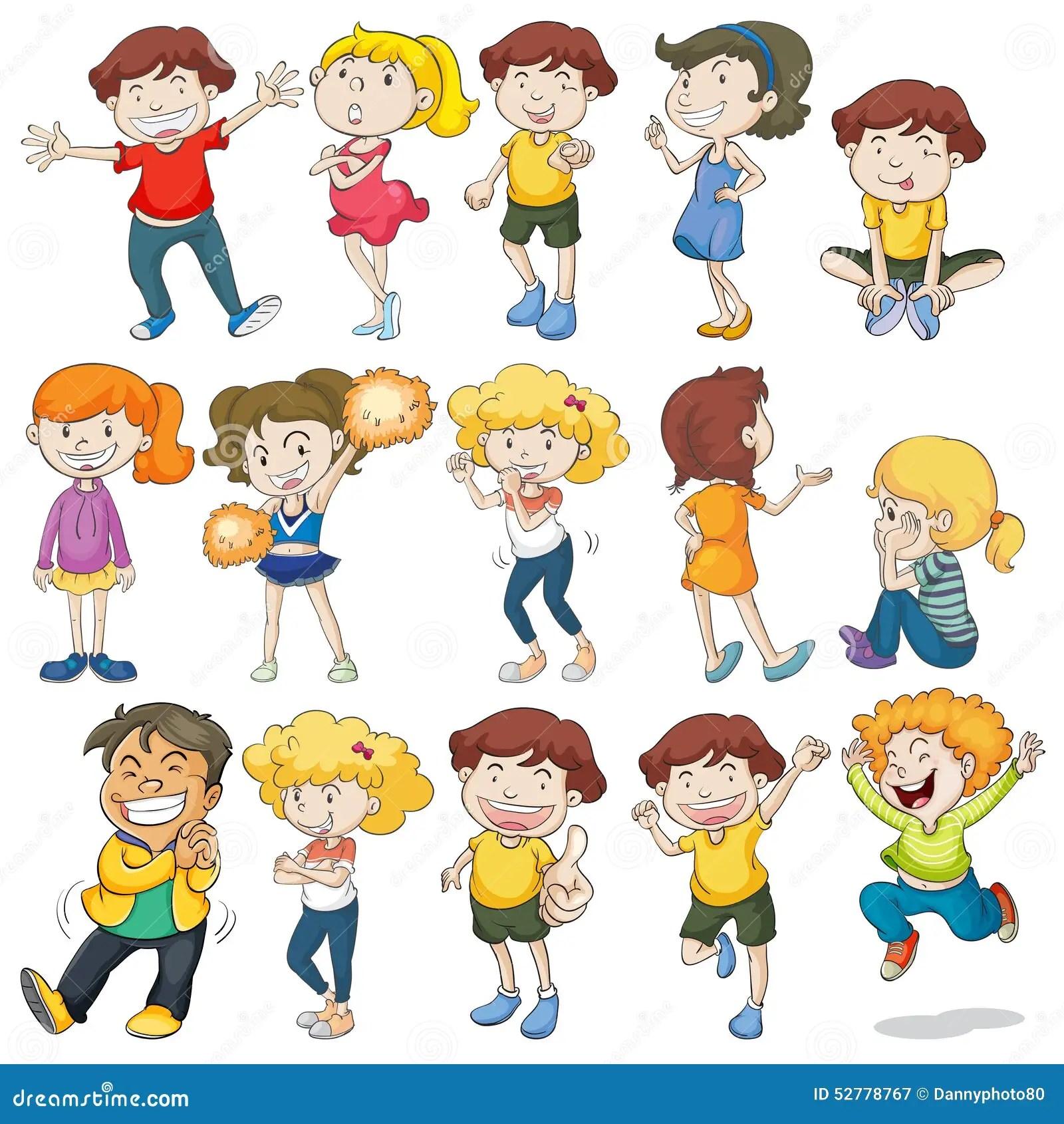Children Stock Vector