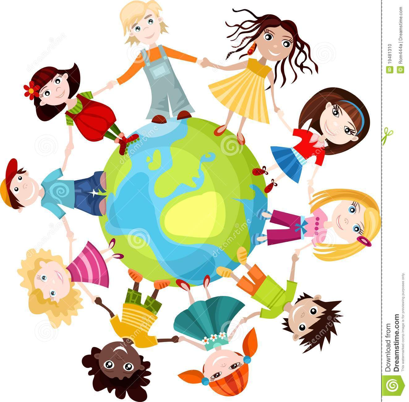 Children Of The World Stock Vector Illustration Of Unity
