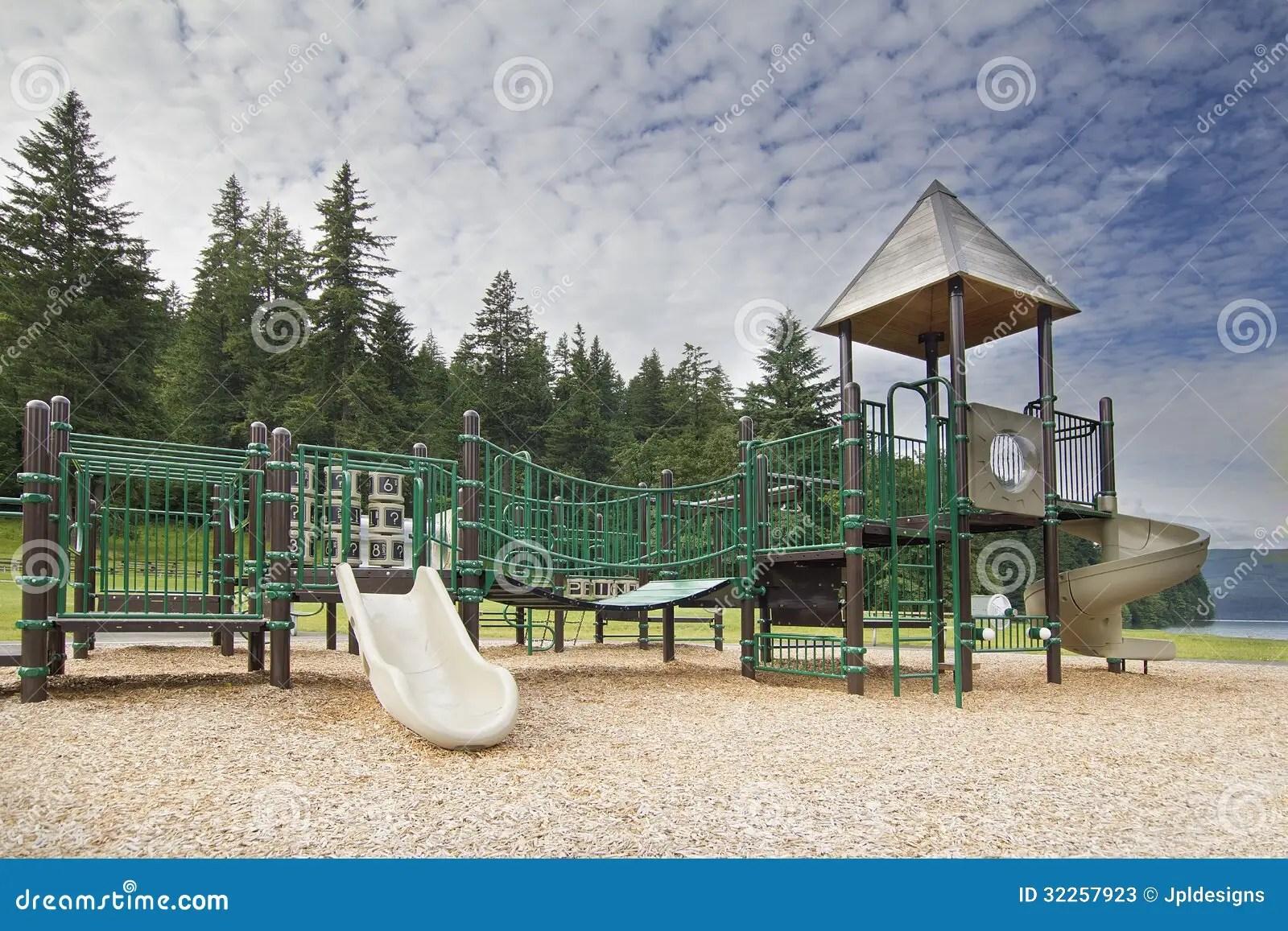 Childrens Playground At Lake Merwin Park Stock Image