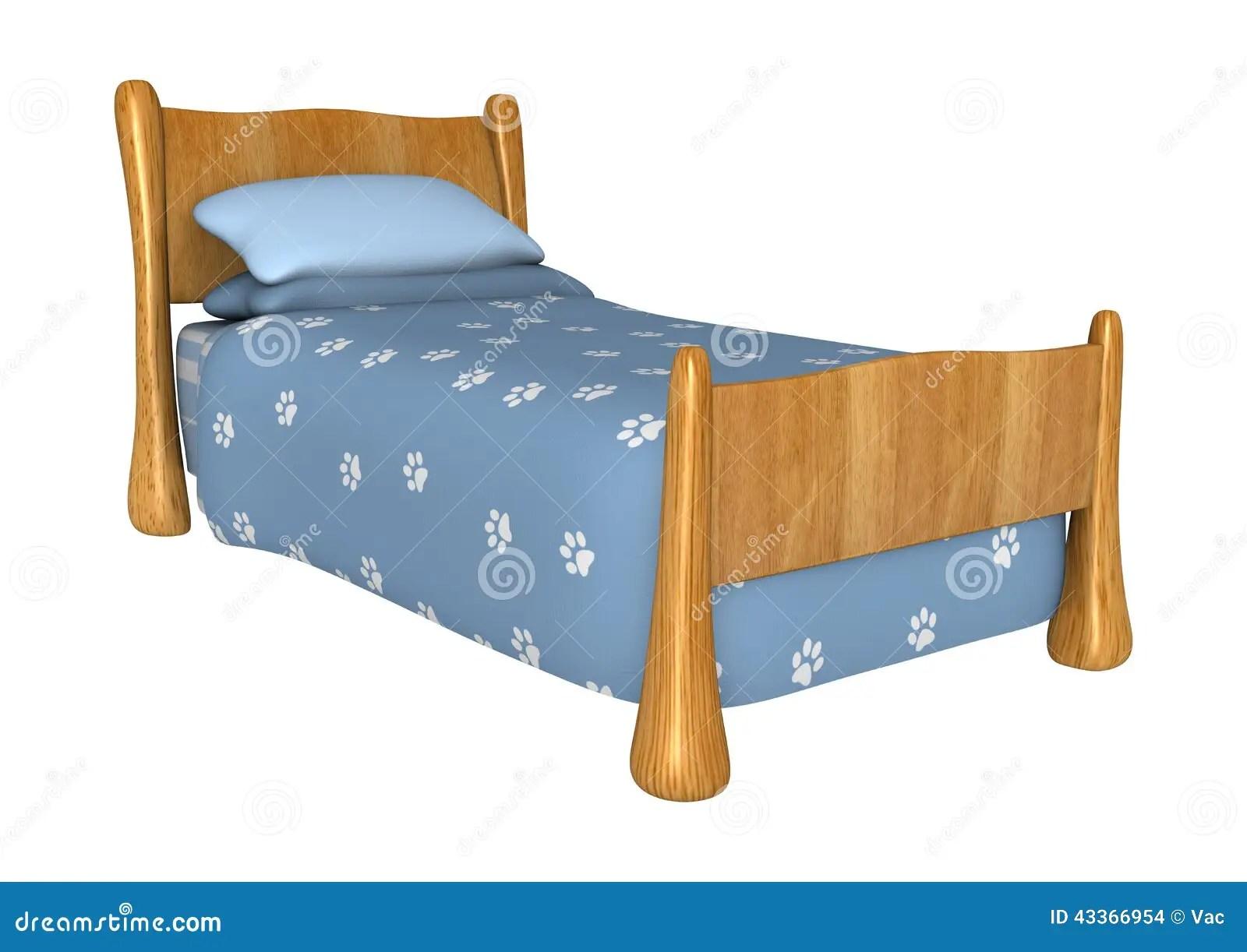 Childs Bed Stock Illustration Image Of Childrens White