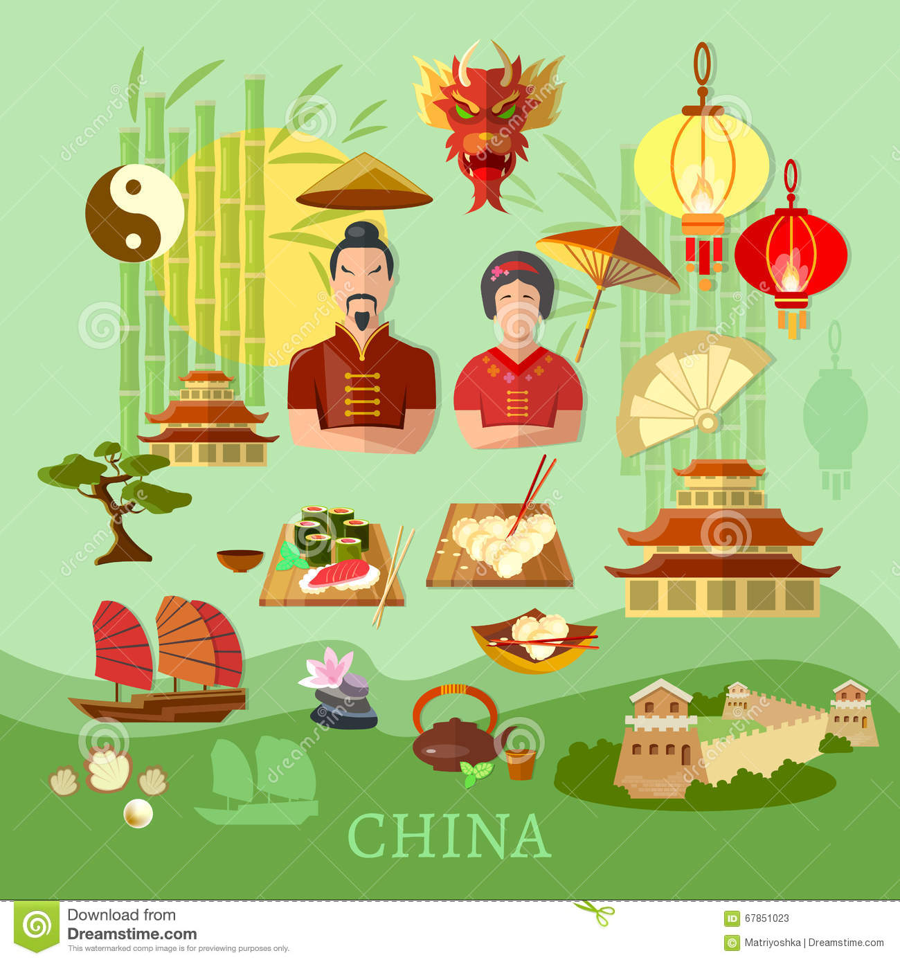China Chinese Traditions And Culture Travel Concept Stock