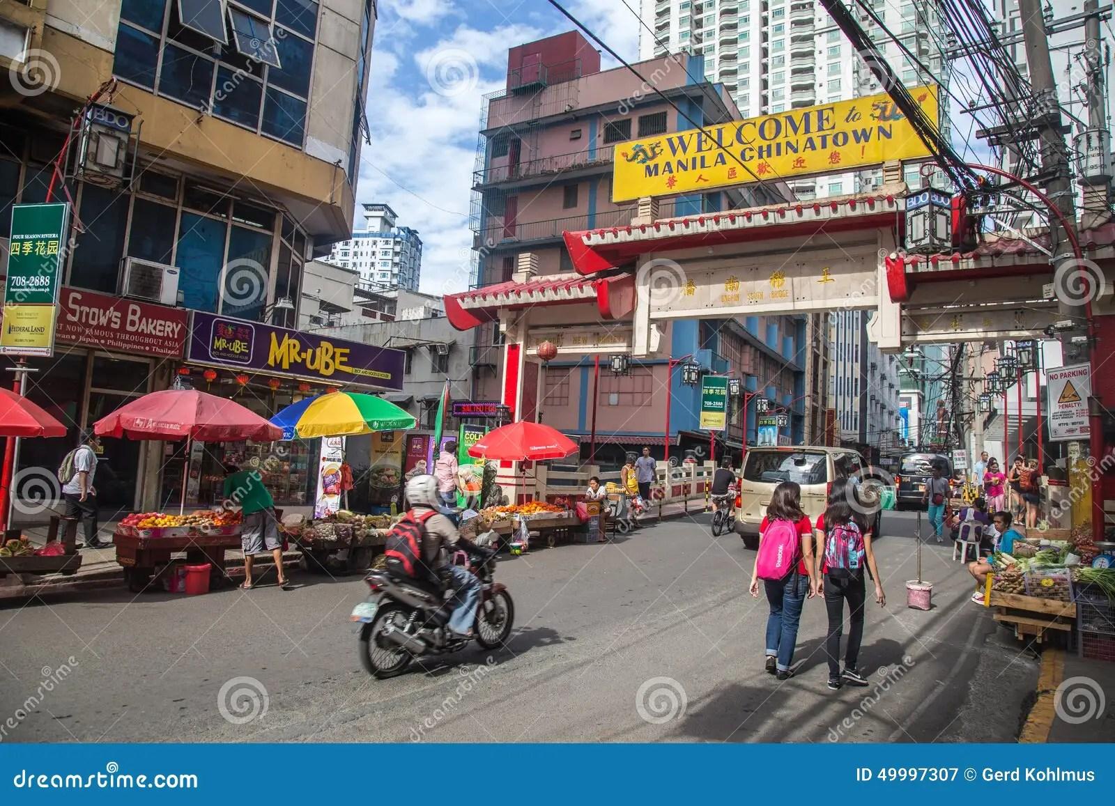 Chinatown Manila Editorial Photography Image 49997307