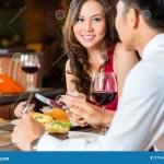Chinese Couple Having Romantic Dinner In Fancy Restaurant Stock Image Image Of Rendezvous Glass 37544545