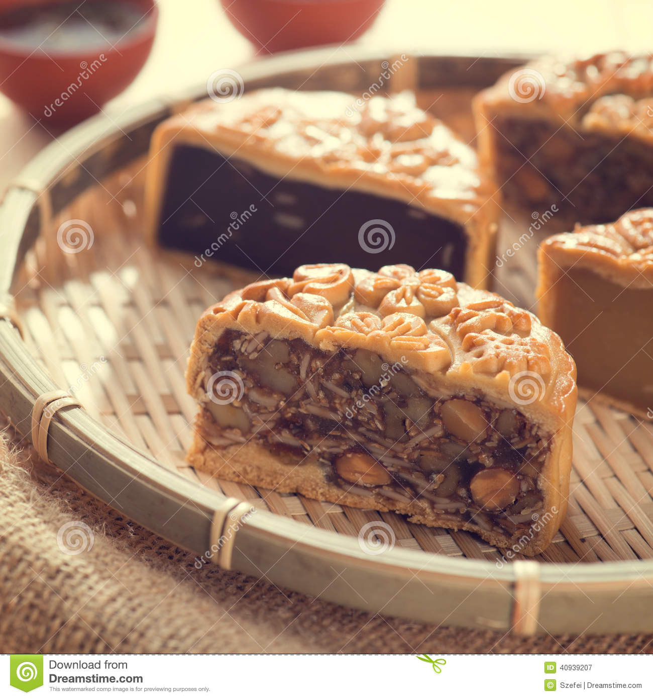 Chinese Mid Autumn Festival Foods Stock Image