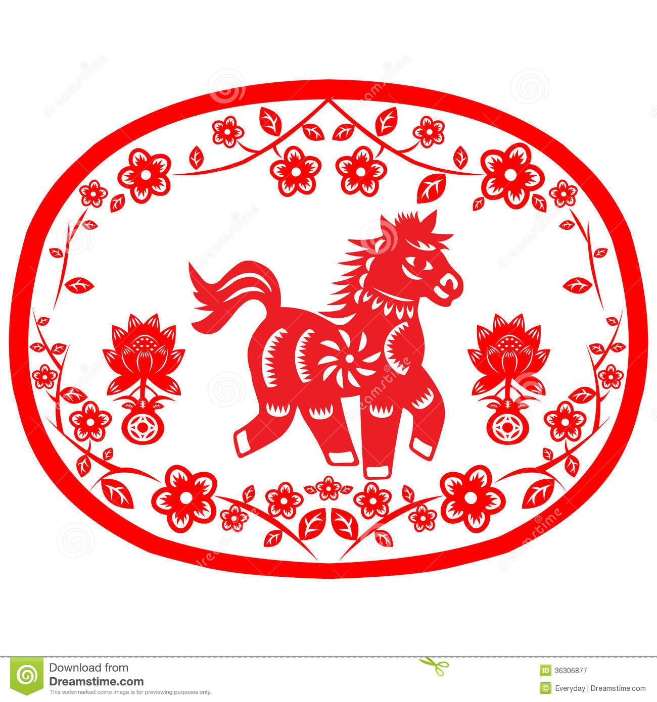 Chinese New Year Horse Royalty Free Stock Photography