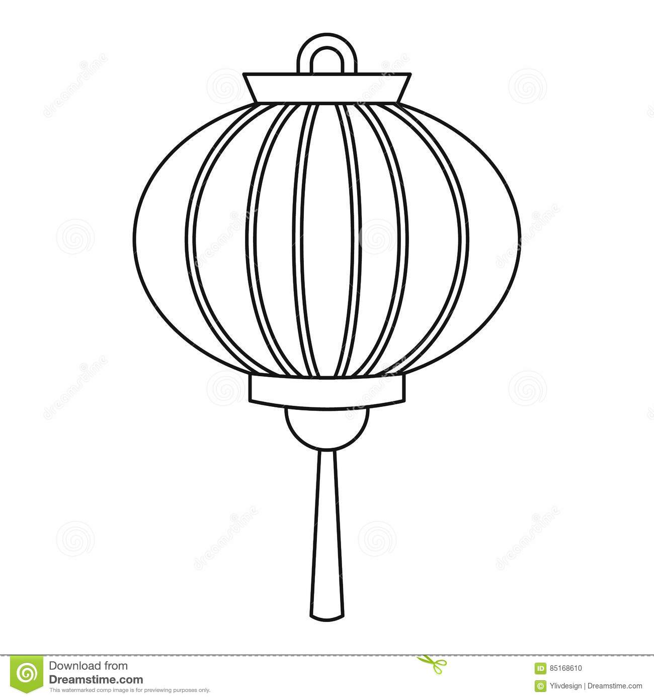 Lantern Outline Pictures To Pin