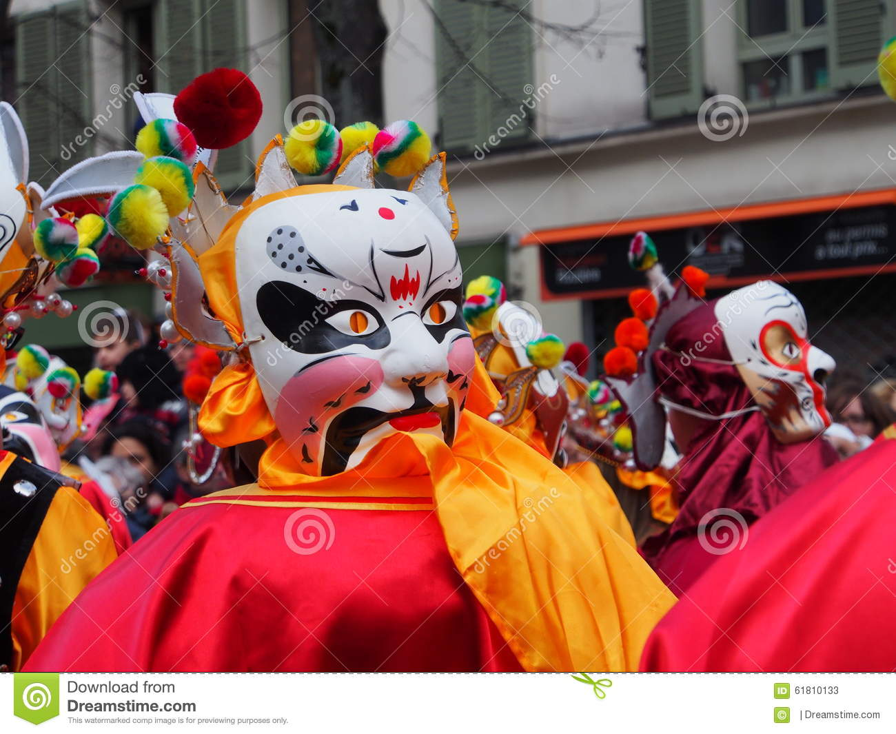 Chinese New Year Masks Editorial Stock Photo Image Of