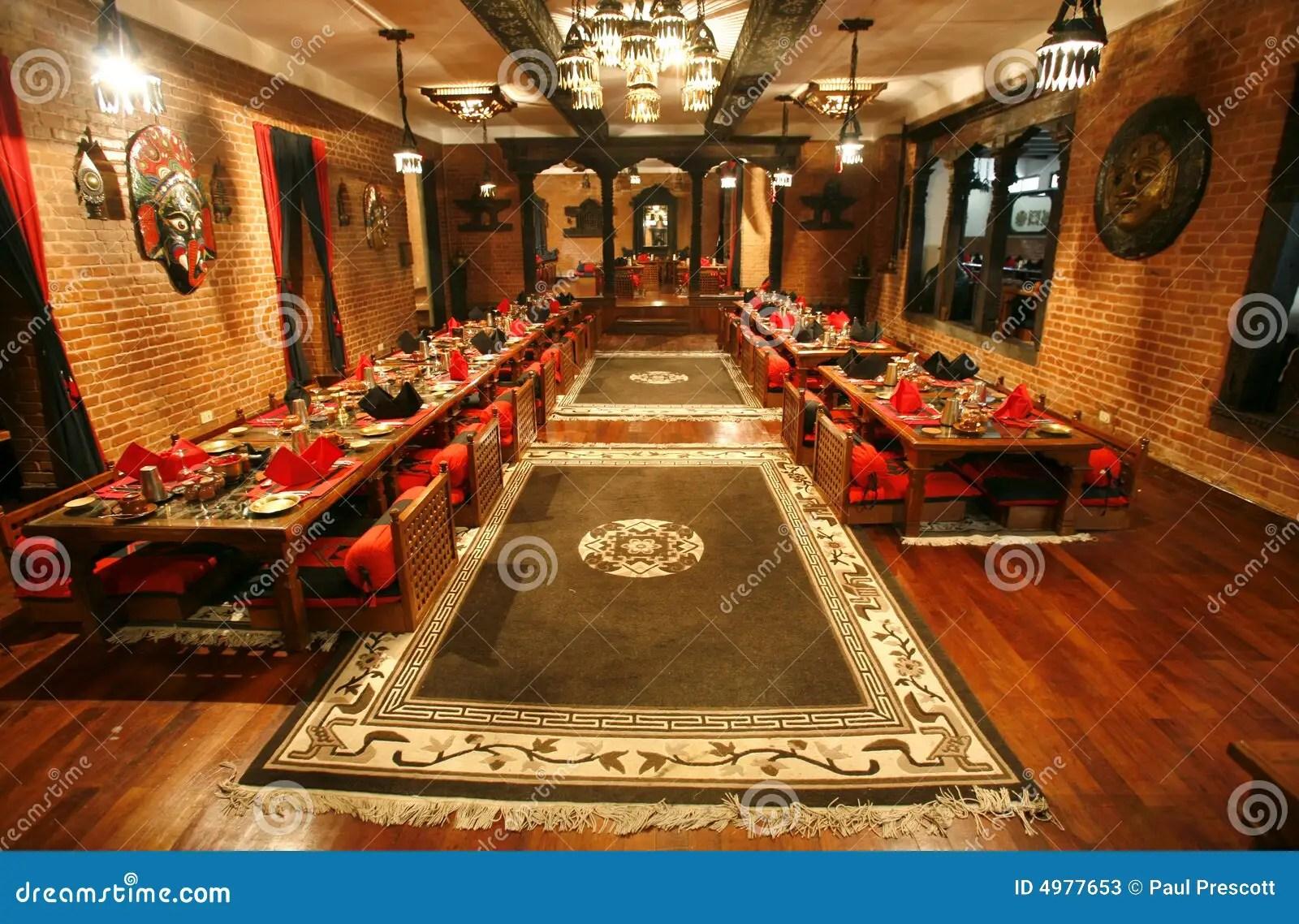 Chinese Restaurant Diningroom Stock Image Image Of