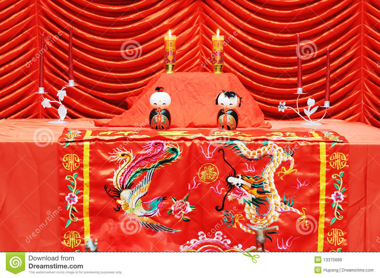Chinese Traditional Wedding Setting Royalty Free Stock