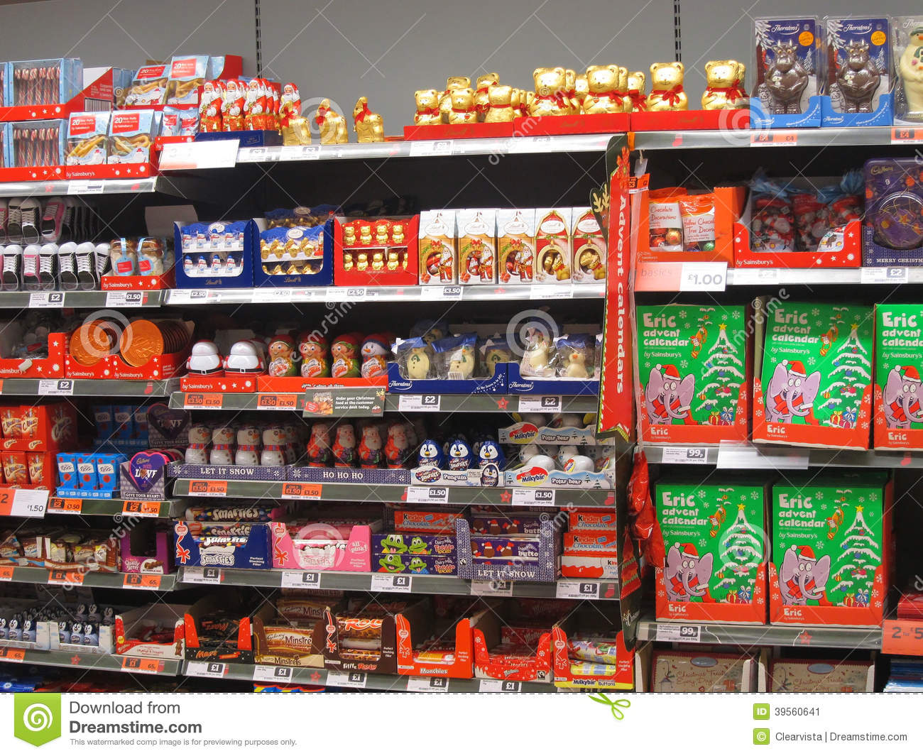Chocolate Or Candy On A Store Shelf Editorial Photo