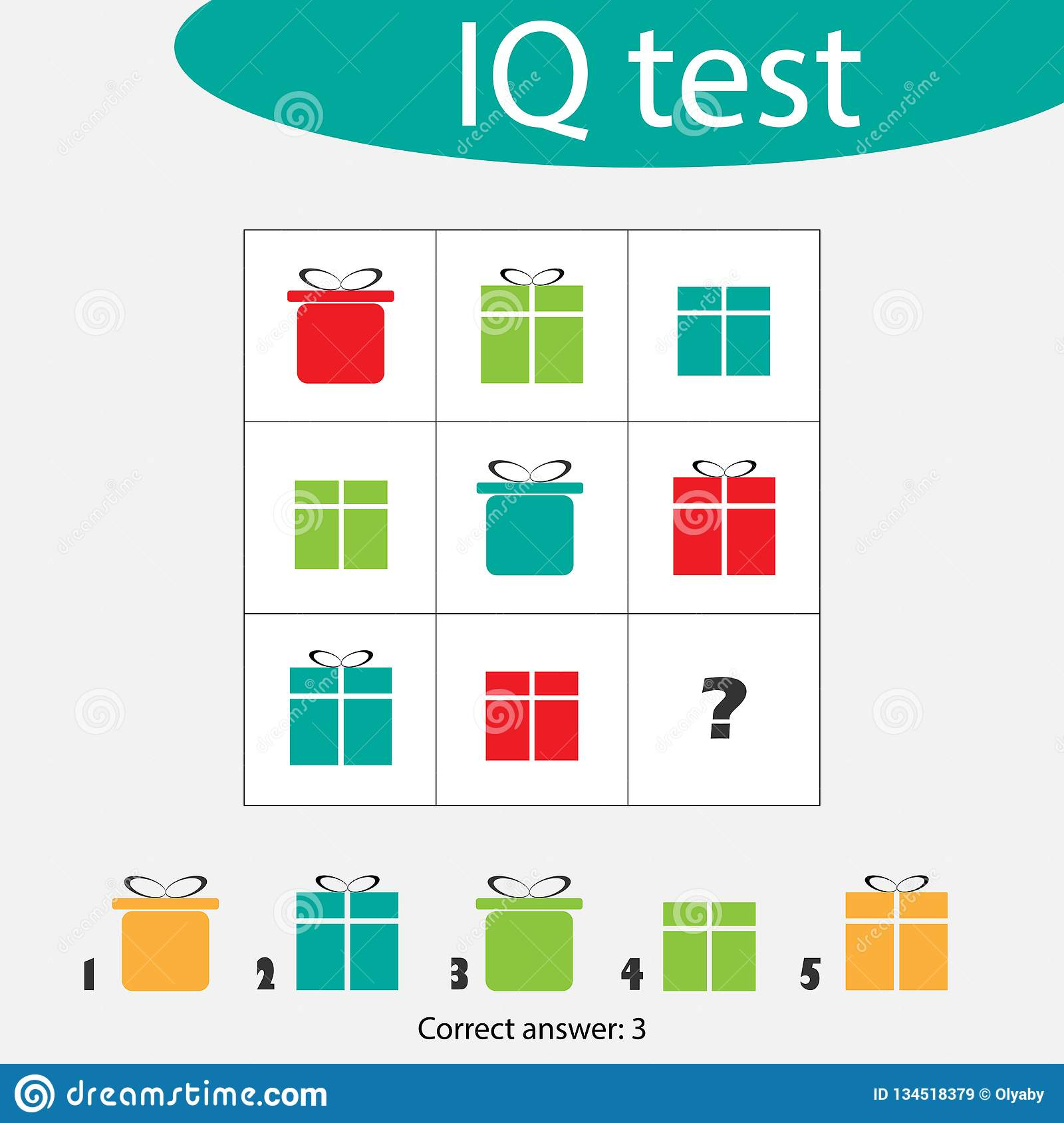 Iq Test Choose Correct Answer Cartoon Vector