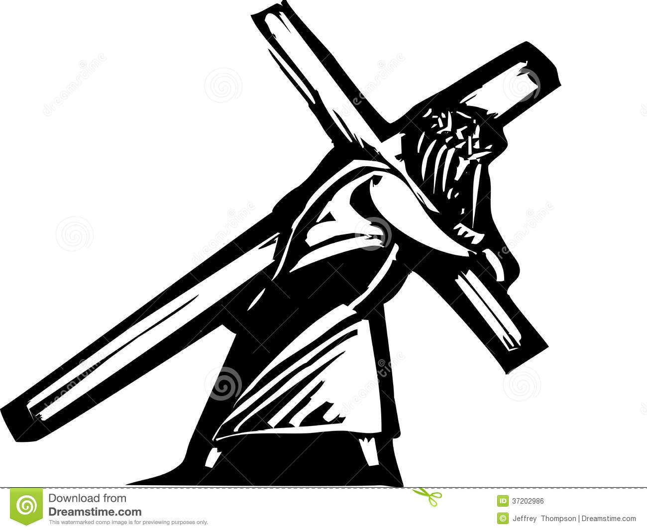 Christ And Cross Stock Vector Illustration Of Christ