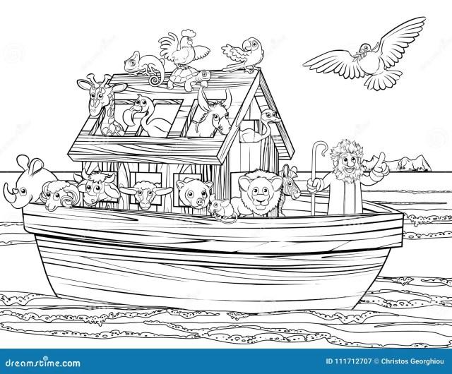 Noah Ark Coloring Page Stock Illustrations – 23 Noah Ark Coloring