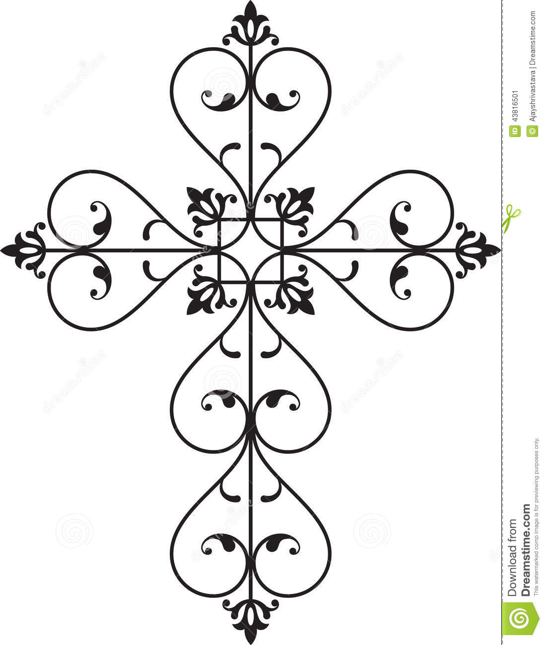 Christian Cross Stock Vector Image Of Ornament Lucky