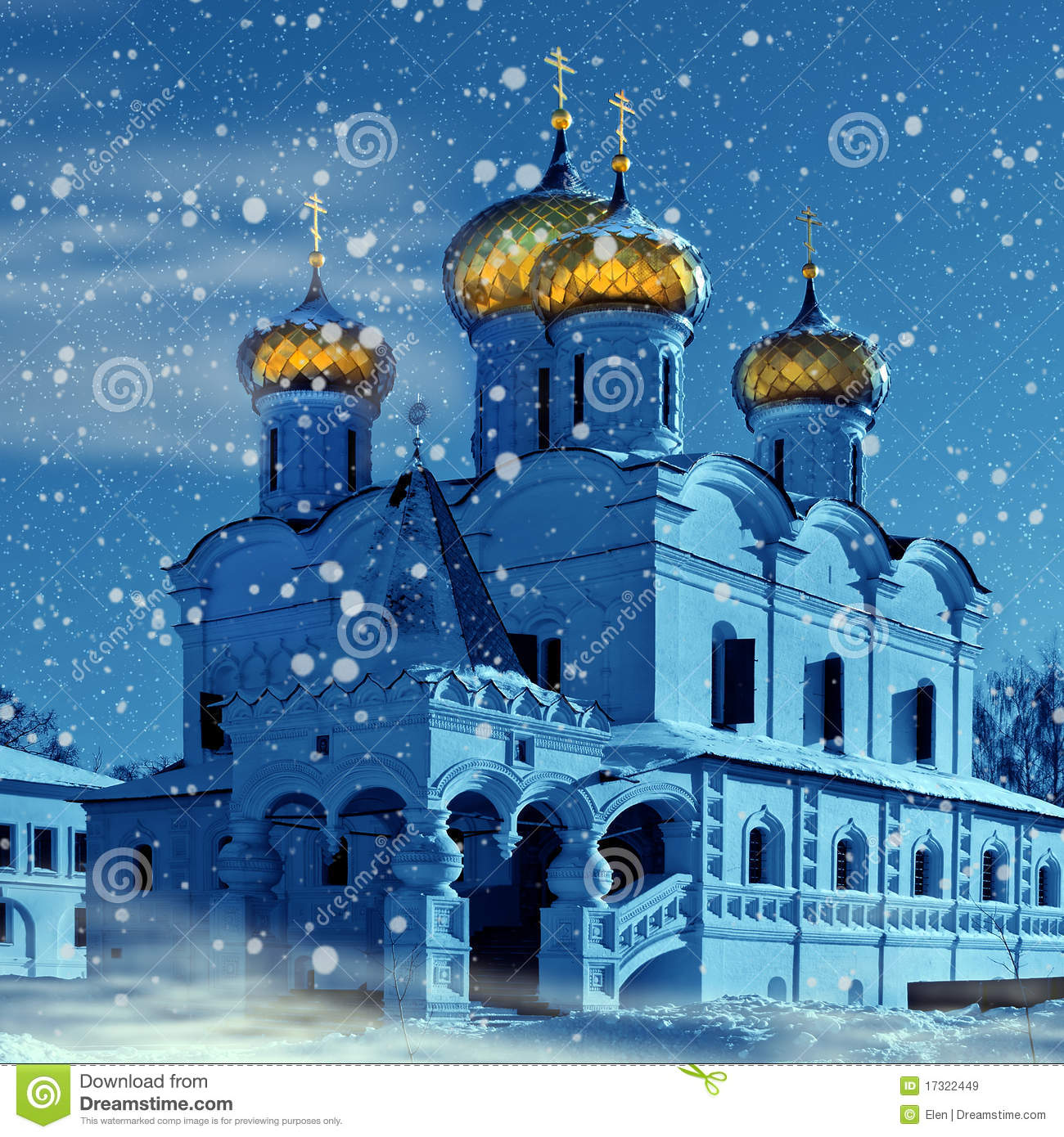 Christianity Church In Russia Christmas Stock Image