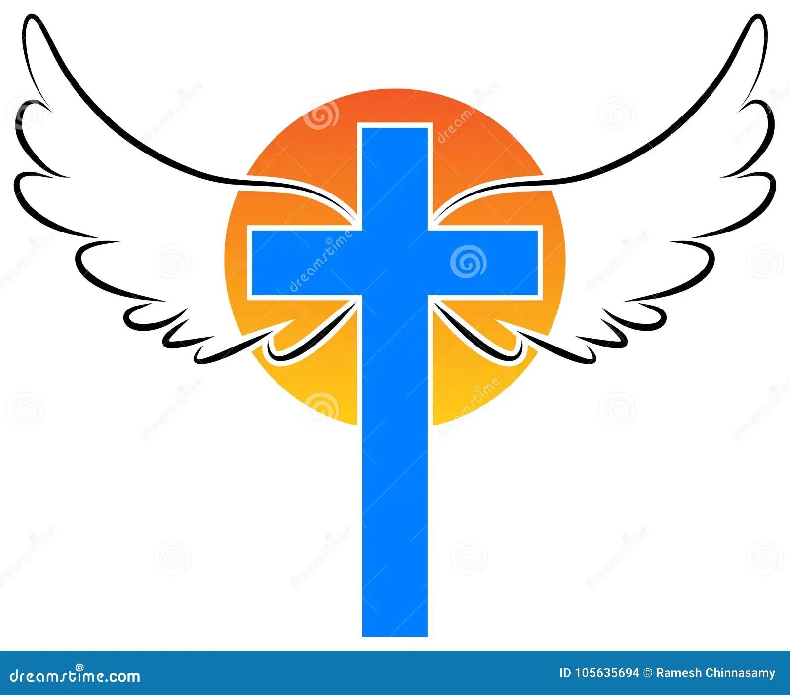 Angel Praying Logo Vector Illustration 29722560