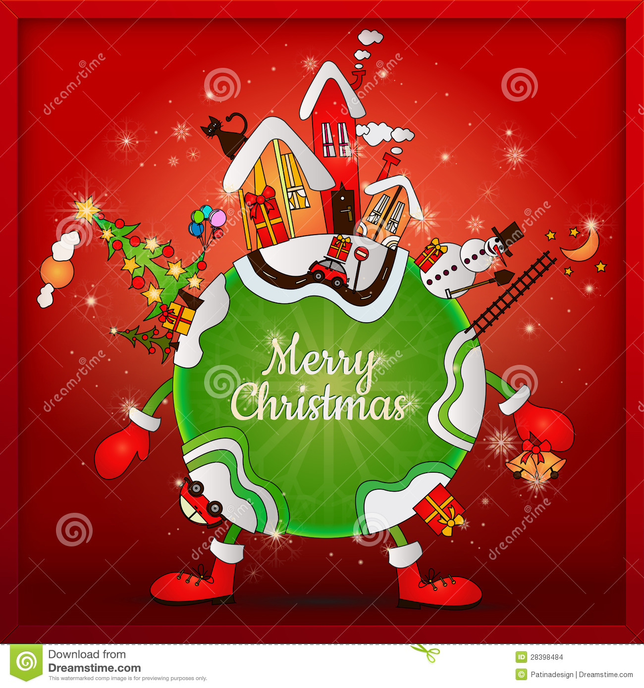 Christmas Around The World Stock Vector Image Of Banner