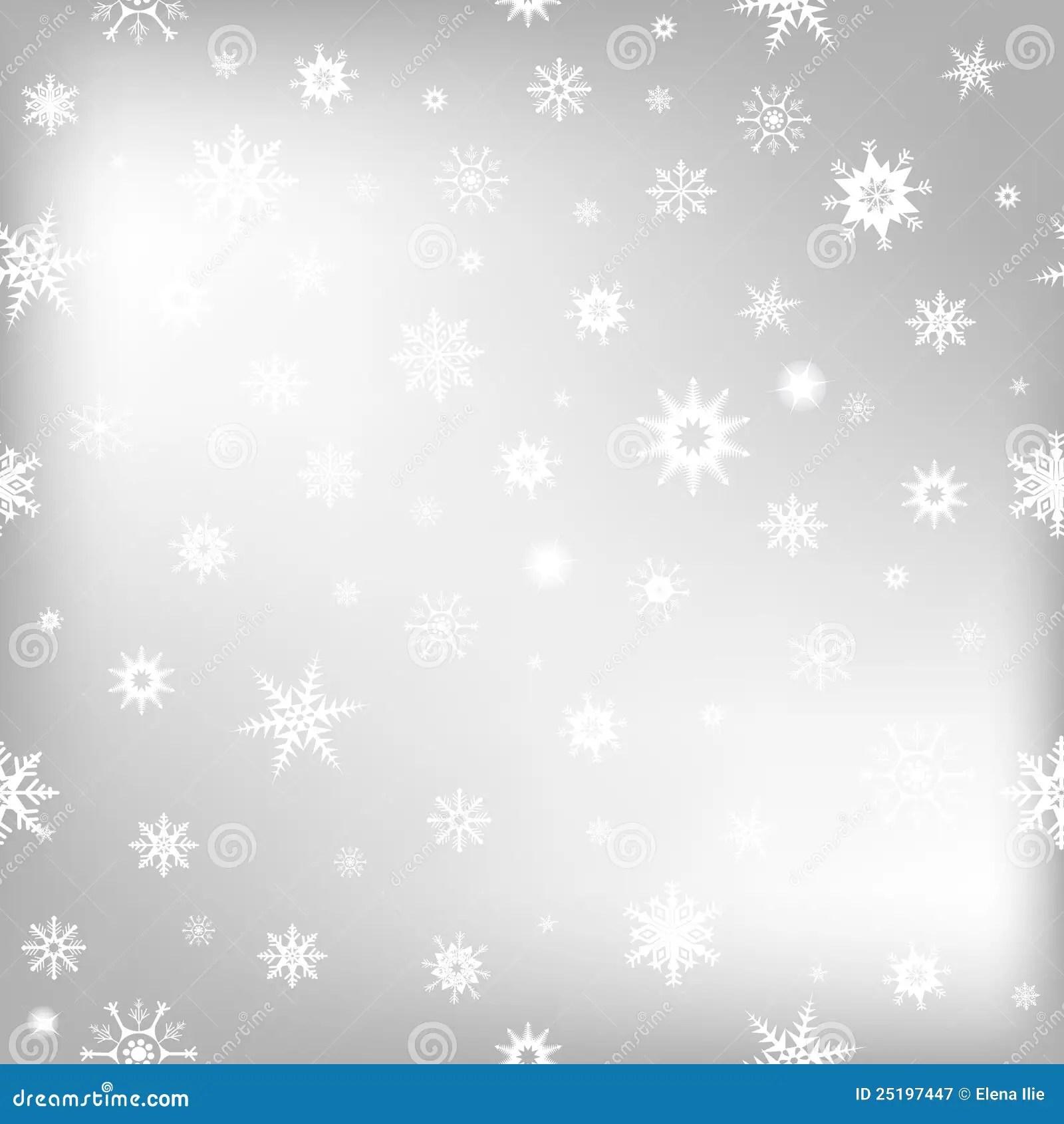 Christmas Background With White Snowflakes Stock