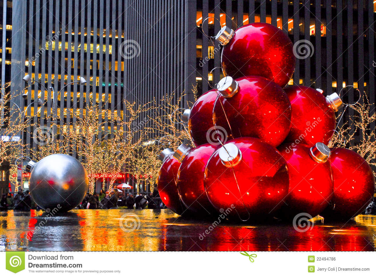 Christmas Balls In Manhattan NYC Editorial Photo Image