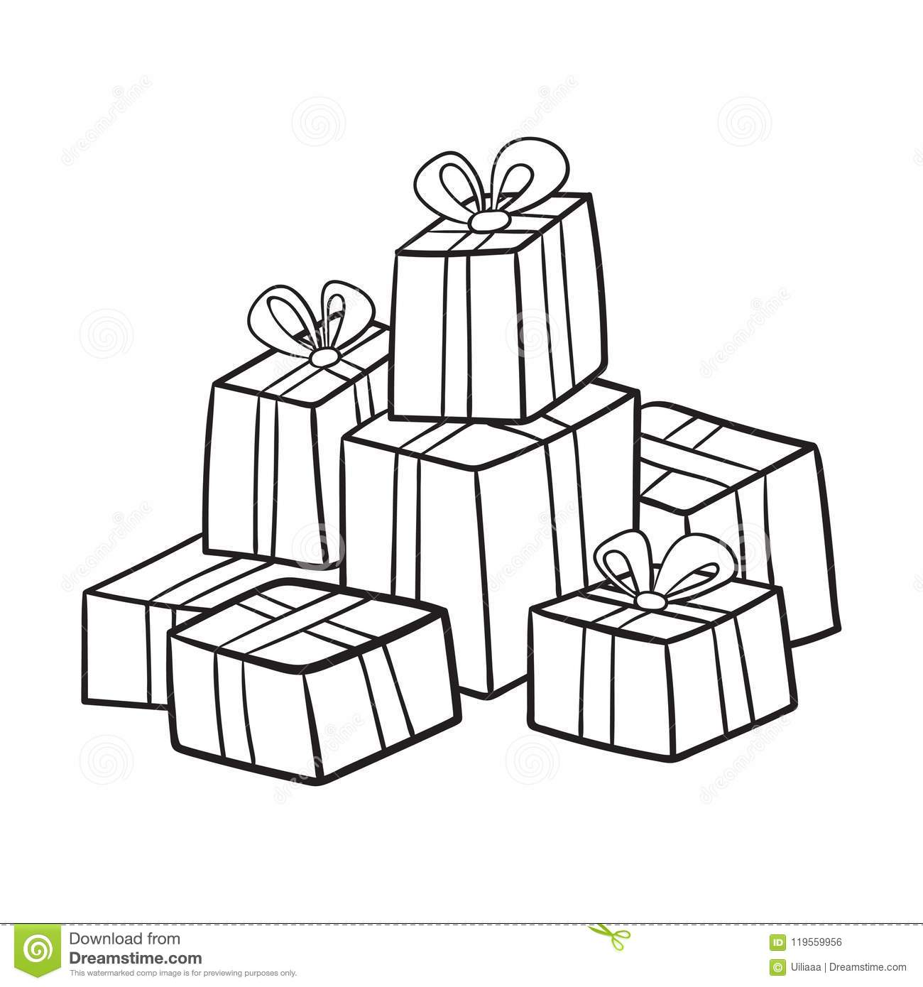 Christmas Or Birthday Presents Collection Stock Vector