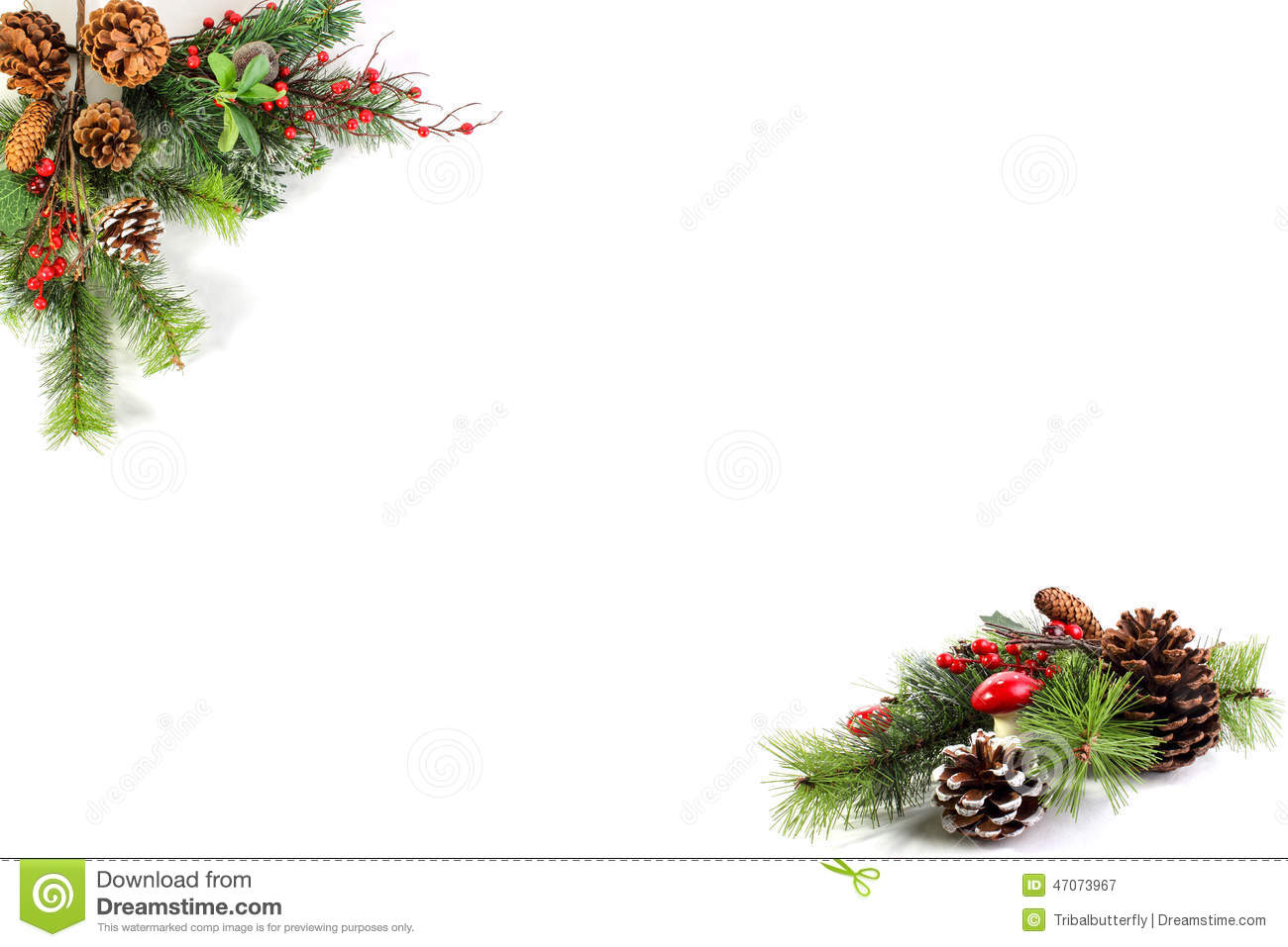 Christmas Blank For Your Own Words Stock Photo Image