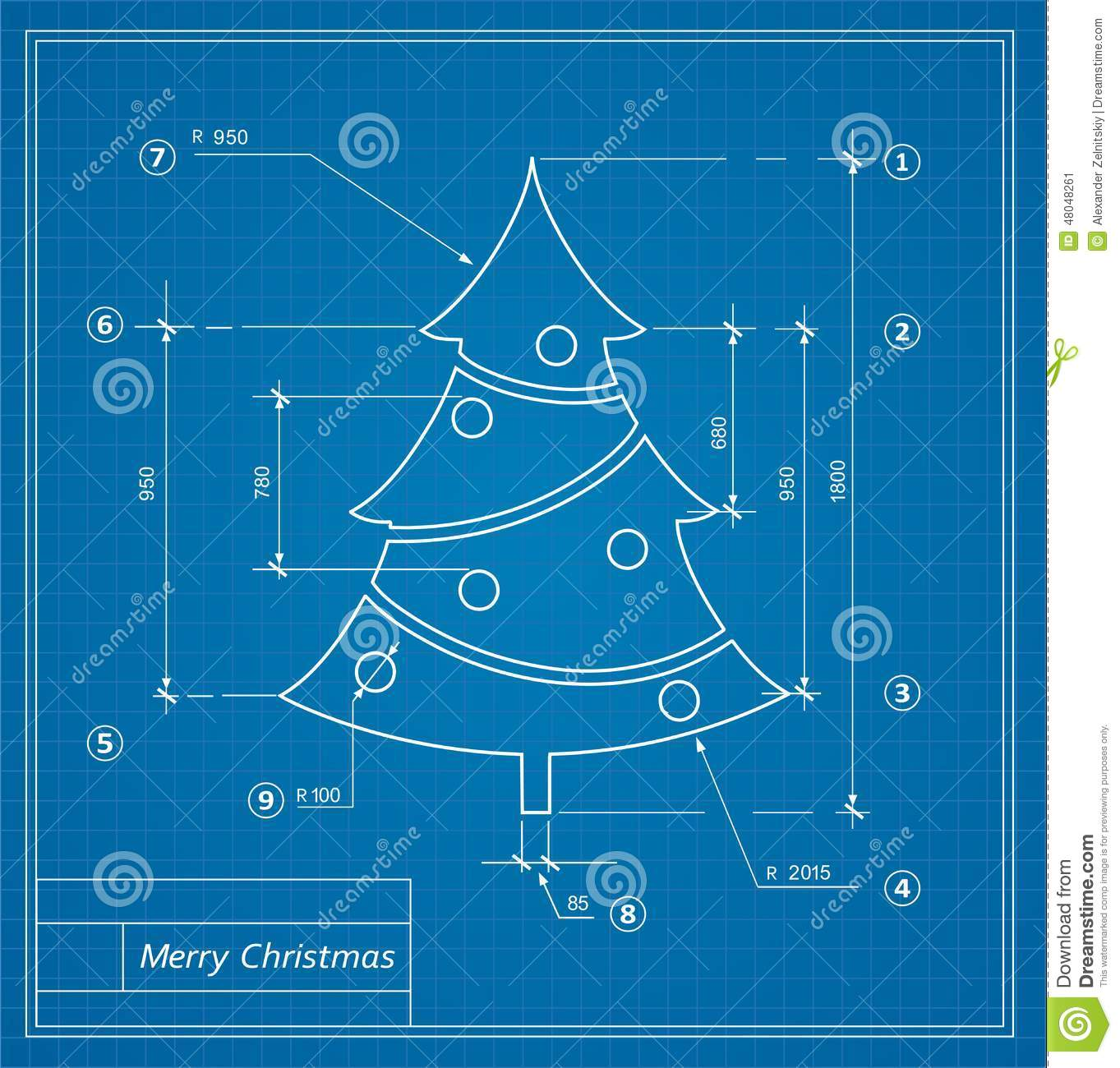 Christmas Blueprints Stock Vector Image Of Holiday 48048261