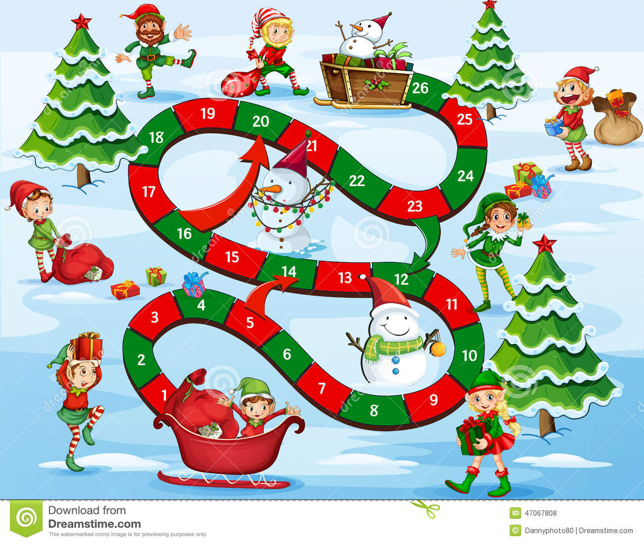 Christmas Board Game Stock Vector