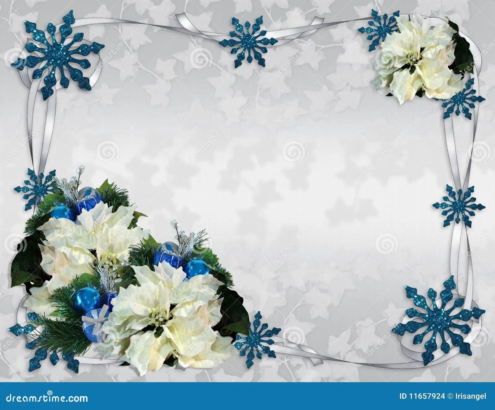 Christmas Border Poinsettias Elegant Stock Images Image
