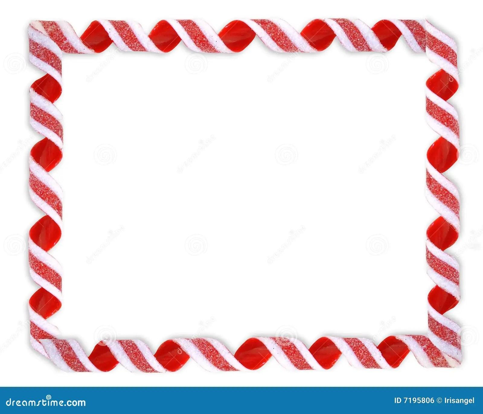 Christmas Border Ribbon Candy Stock Illustration